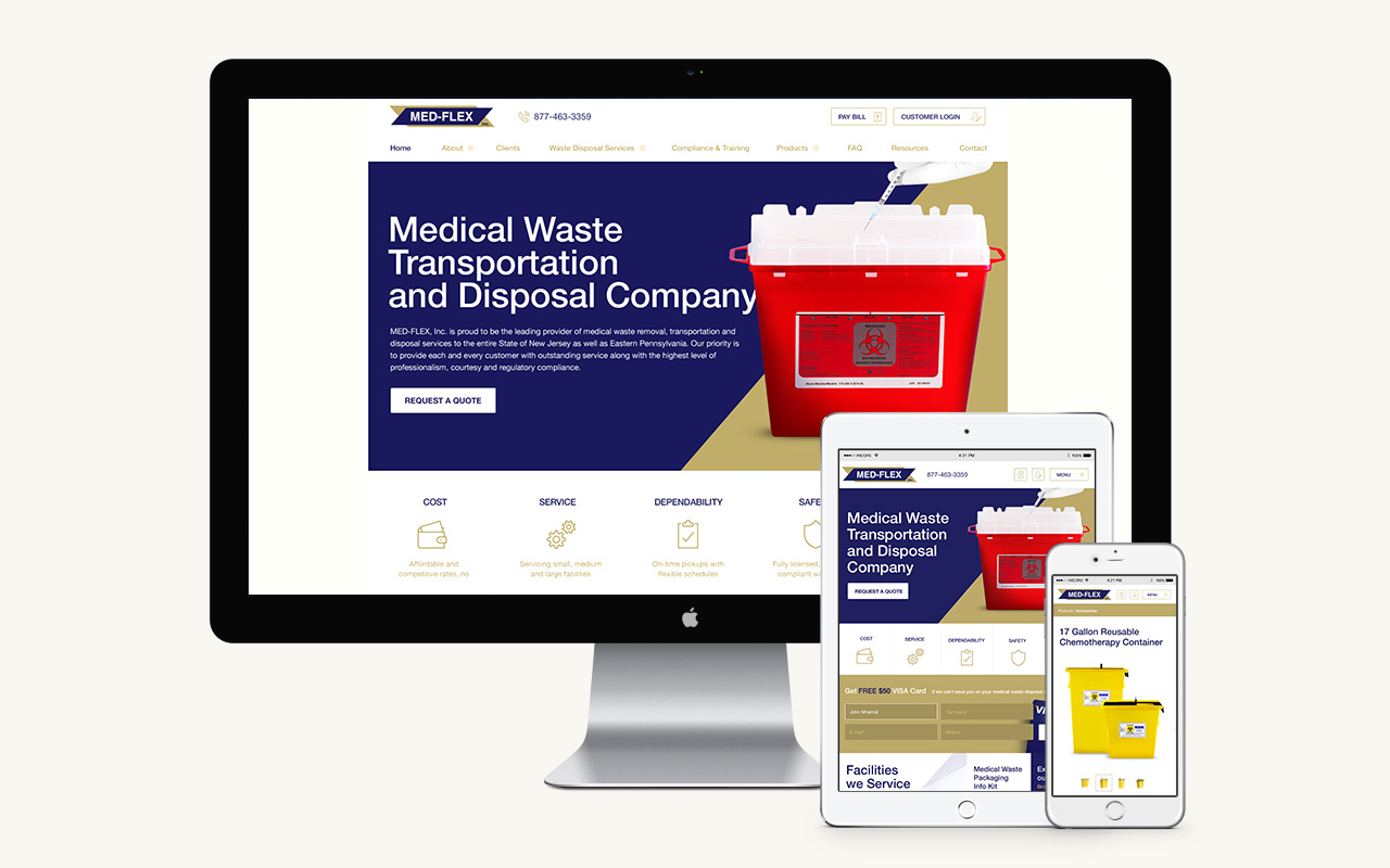 Med-Flex - Responsive Web Design Example 1